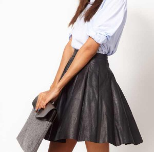 ASOS Premium Skirt in Pleated Leather €127.95