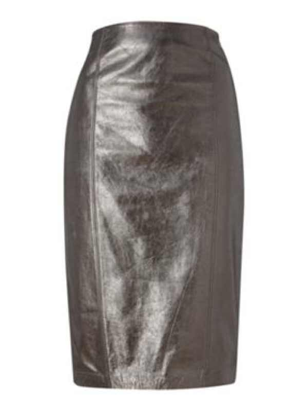 Mary Portas Leather Pencil skirt