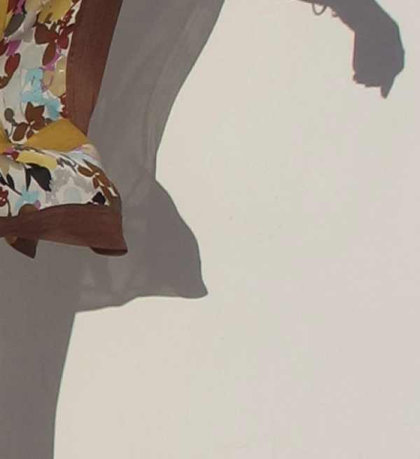 Missoni silk multicolor floral dress and shadow