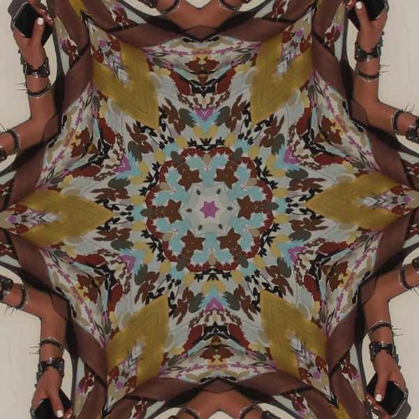 Missoni silk multicolor floral dress kalidoscope
