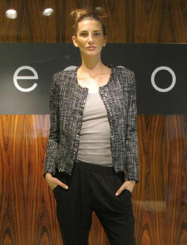 Loved this ladylike Chanel style jacket