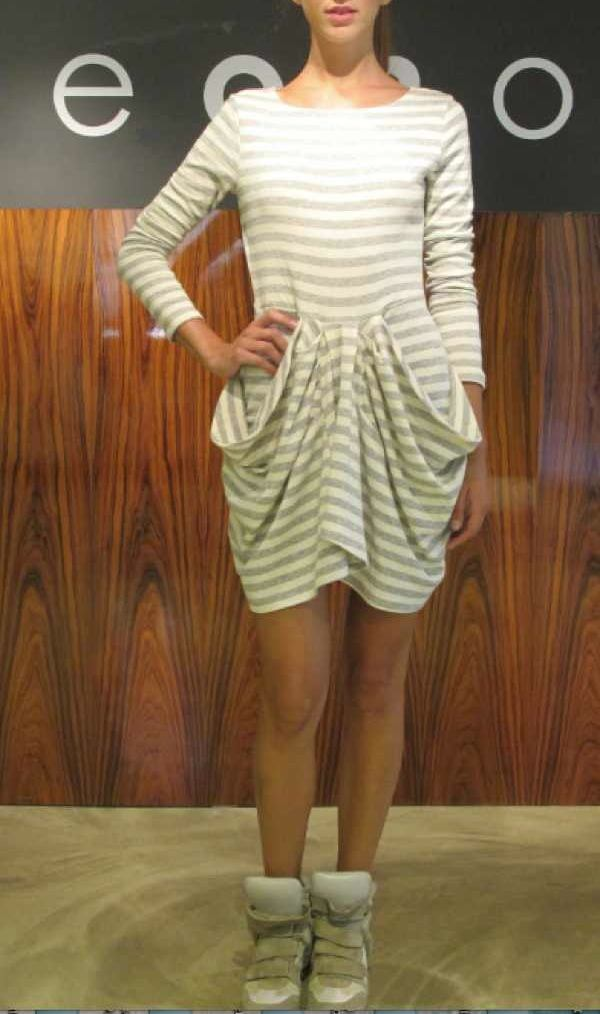 OneonOne-stripped-grey-dress