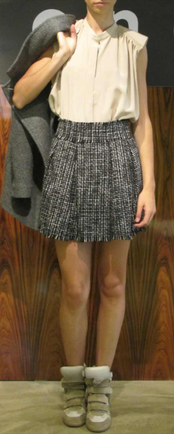 Oneonone skirt black and white