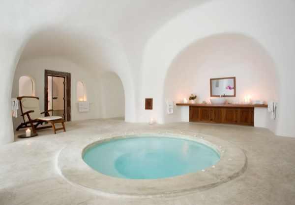 Santorini, Perivolas Suites hotels interior round pool