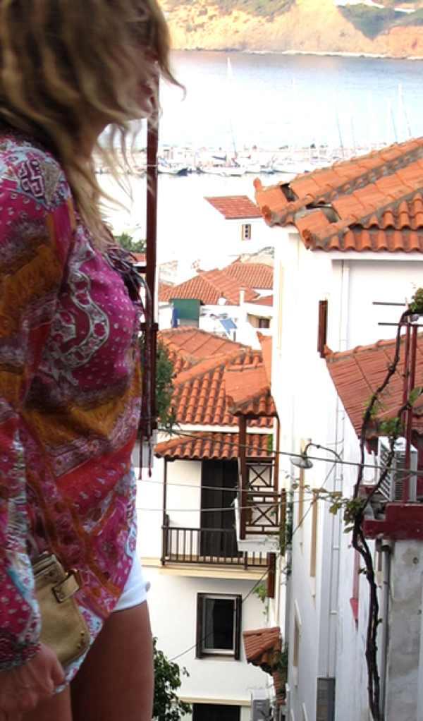 Skopelos Dana Buchman Silk top