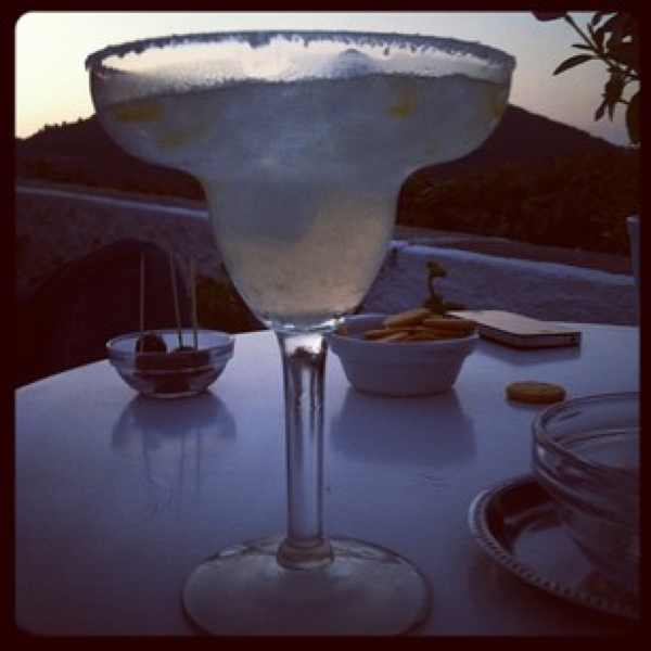 Skopelos view Margarita cocktail