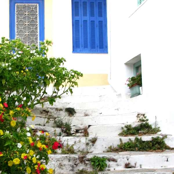 Skopelos traditional houses