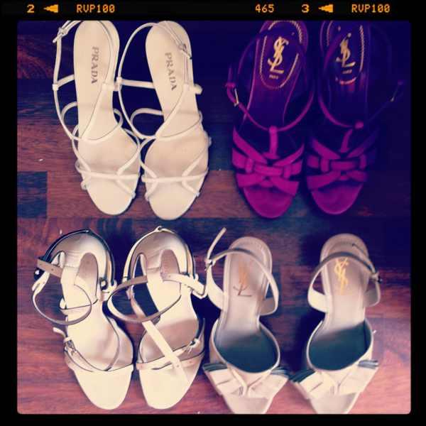 Trensurvivor Gucci, YSL, Prada Shoes