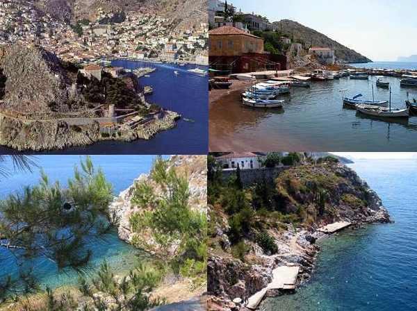 HYDRA Island Greece COLLAGE