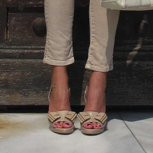 YSL Nude Sandals