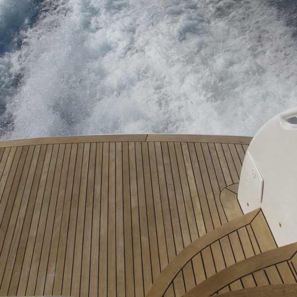 boat sea yacht deck back