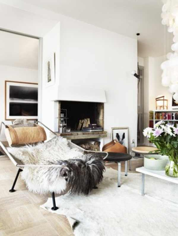 convoy_fireplace, fur chair