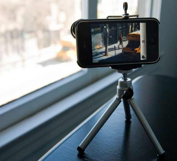 iPhone photography gadget, telescopic lens, tripod