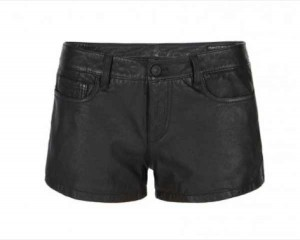 All Saints  Black Perry Leather Shorts  £150.00