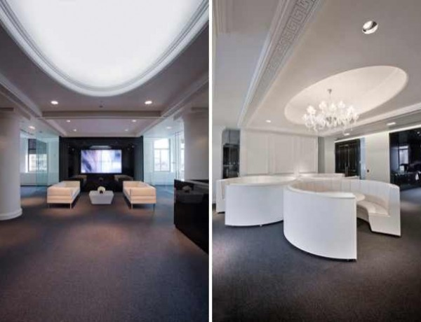 net-a-porter several seating areas present throughout the scope of the interior