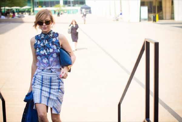 NYFW Blue dress