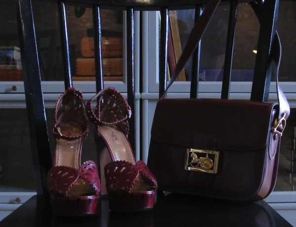 Alaia-red Sandals and-Vintage-Celine bag