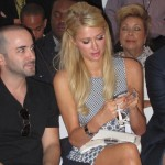 Paris Hilton blue dress NYFW at Marlon Gobel Trendsurvivor