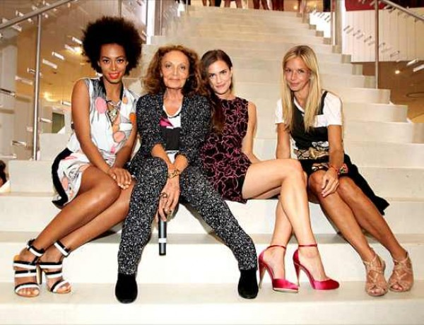 Solange Knowles, Diane von Furstenberg, Allison Williams and Meredith Melling Burk by Marc Andrew Deley, Crammed Media