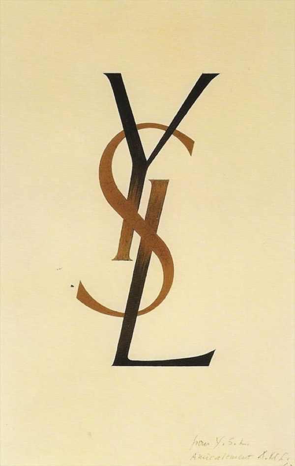 YSL logo, 1961 By Adolphe Mouron