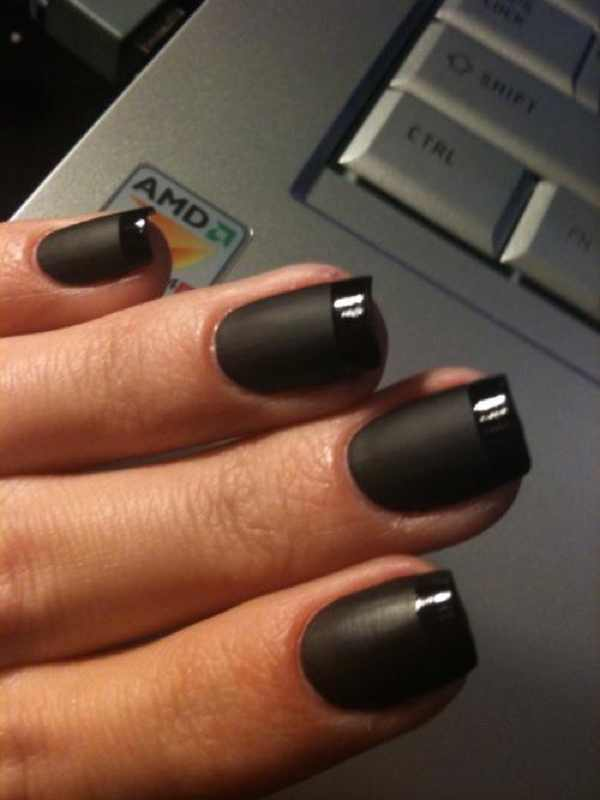 French manicure black