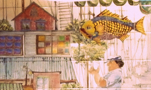 Decor, Trendsurvivor, The Fish Market, San Diego tiles painting