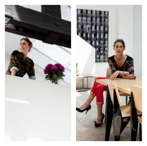 Isabel Marant's Paris studio as seen in Elle Magazine