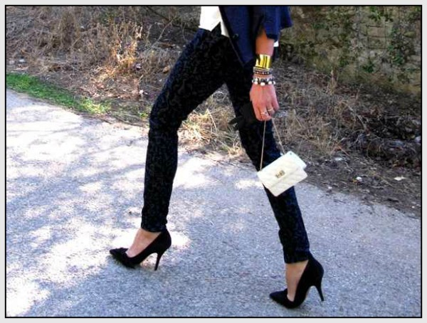 Isabel Marant Jacket,  Baroque Velvet Brocade Pants jBrand, Chanel bag