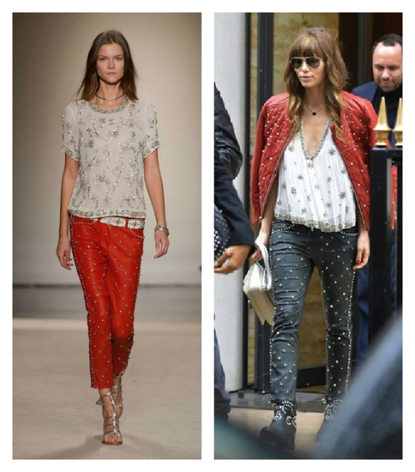 Jessica Biel Isabel Marant 2013 Collage