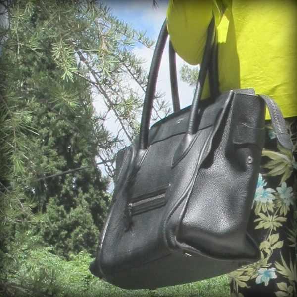 Floral pants, Celine handbag