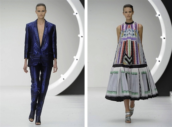 Mary Katrantzou 2013 S:S Fashion Week androgynous suit