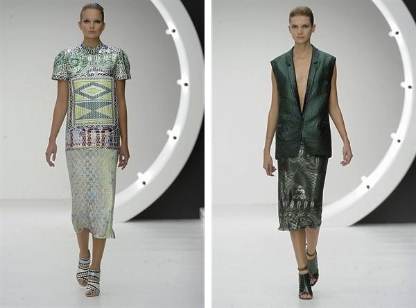 Mary Katrantzou 2013 S:S Fashion Week Are you ready for midi skirt length