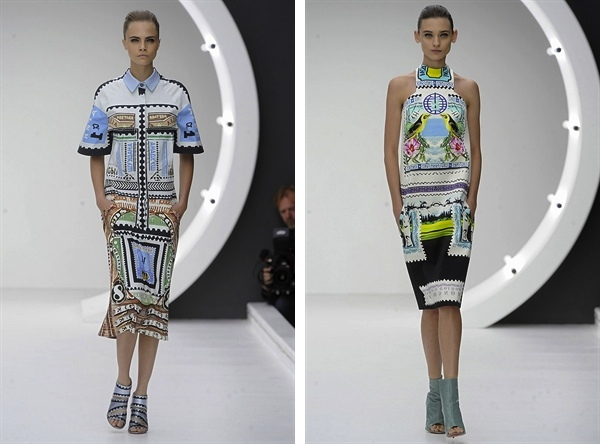 Mary Katrantzou 2013 S:S Fashion Week stamps