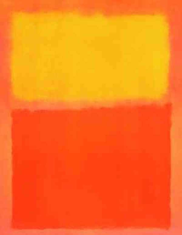 Orange and Yellow by Mark Rothko, 1956