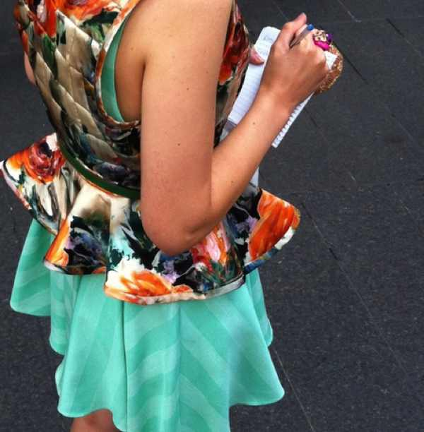 Peplum flower top NYFW by TRENDSURVIVOR