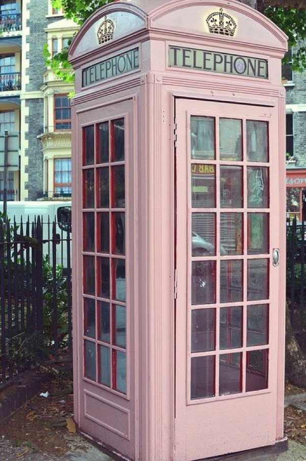 Pink Phone booth English