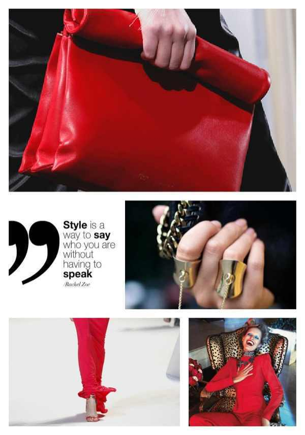 Red and black  Inspiration Collage