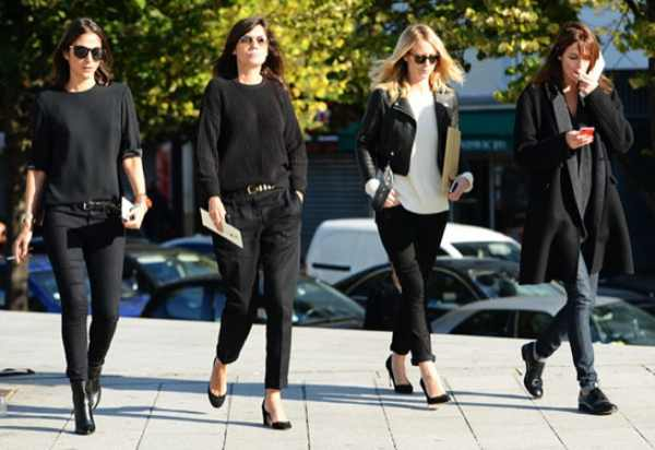 photo Tommy Ton Vogue Paris Fashion week black outfits