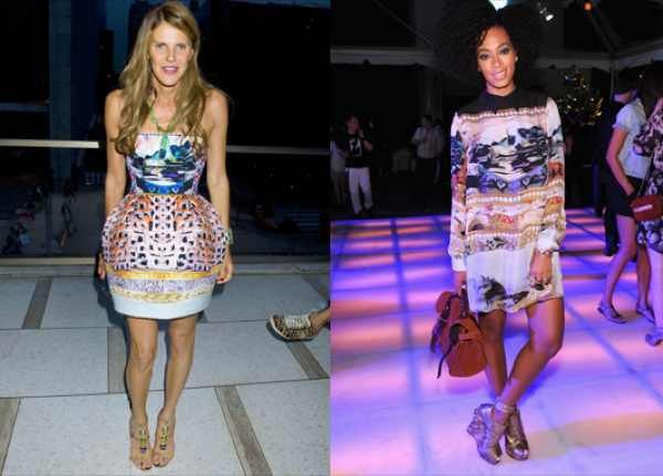 Anna Dello Russo and Solange Knowles
