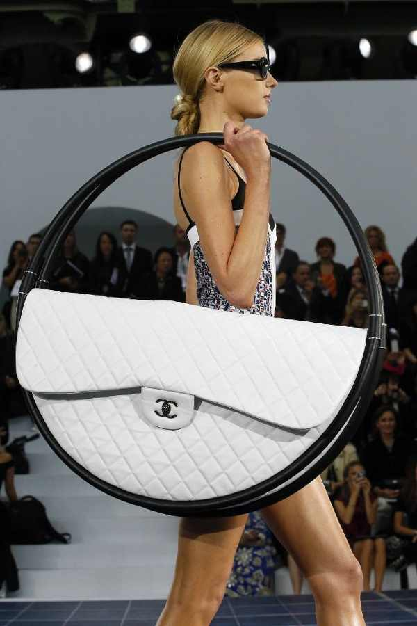 Chanel 2013 quilted hula-hoop:beach bag hybrid