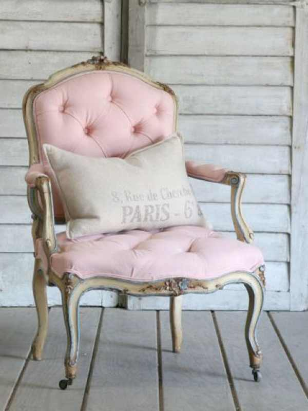 retro chair pink