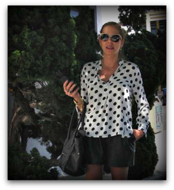 street style polka dots