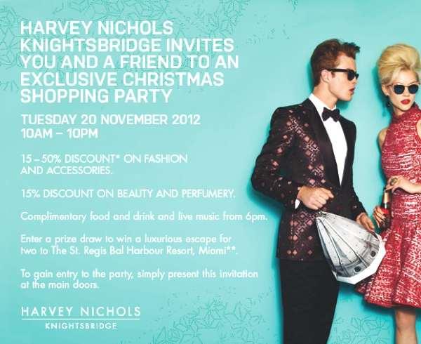 HARVEY NICHOLS TUESDAY SALE PARTY