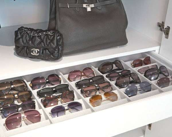 Sunglasses storage idea