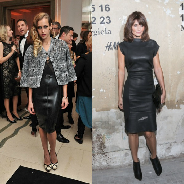 Alice Dellal in Chanel and Helena Christensen at H&M