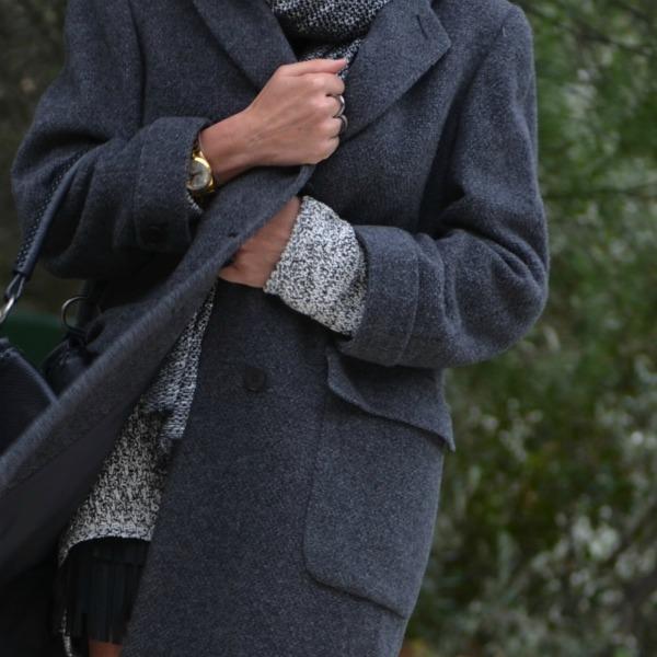 Androgynous cocoon coat Armani