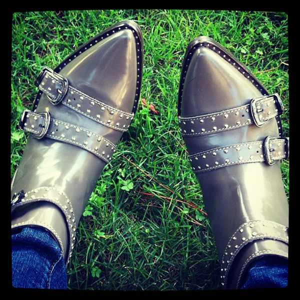 Cowboy studded boots