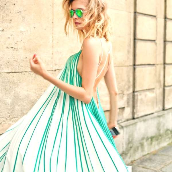 Elena Perminova photographed by Candice Lake, fashionable green f