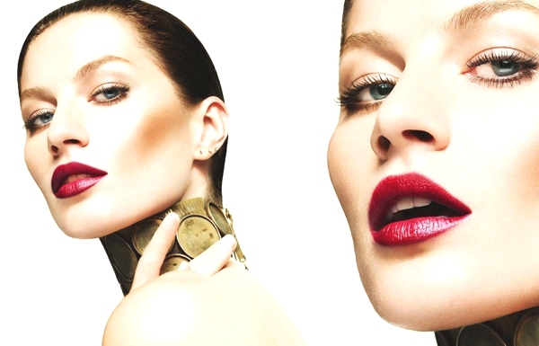 Gisele Budchen dark red lipstick