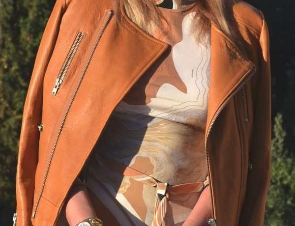 Rock chic IRO leather jacket-leonard vintage dress